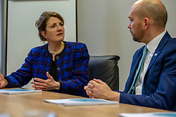 Angela Mathis engages with Ben Macpherson<br /><br />Migration Minister Ben Macpherson visited Think Tank Maths Ltd in Edinburgh today on the day a report on migration by an expert panel was published.  The Expert Advisory Group on Migration and Population, chaired by Professor Christina Boswell of the University of Edinburgh, was asked to give independent expert advice to the Scottish Government on migration, population growth and demographic change.<br /><br />Mr Macpherson met with Professors Christina Boswell and David Bell (University of Stirling), Angela Mathis, Chief Executive Think Tank Maths ltd and Cyrille Mathis, Chief Scientific Officer Think Tank Maths ltd<br /><br /><br />Ger Harley | EEm 28 February 2019
