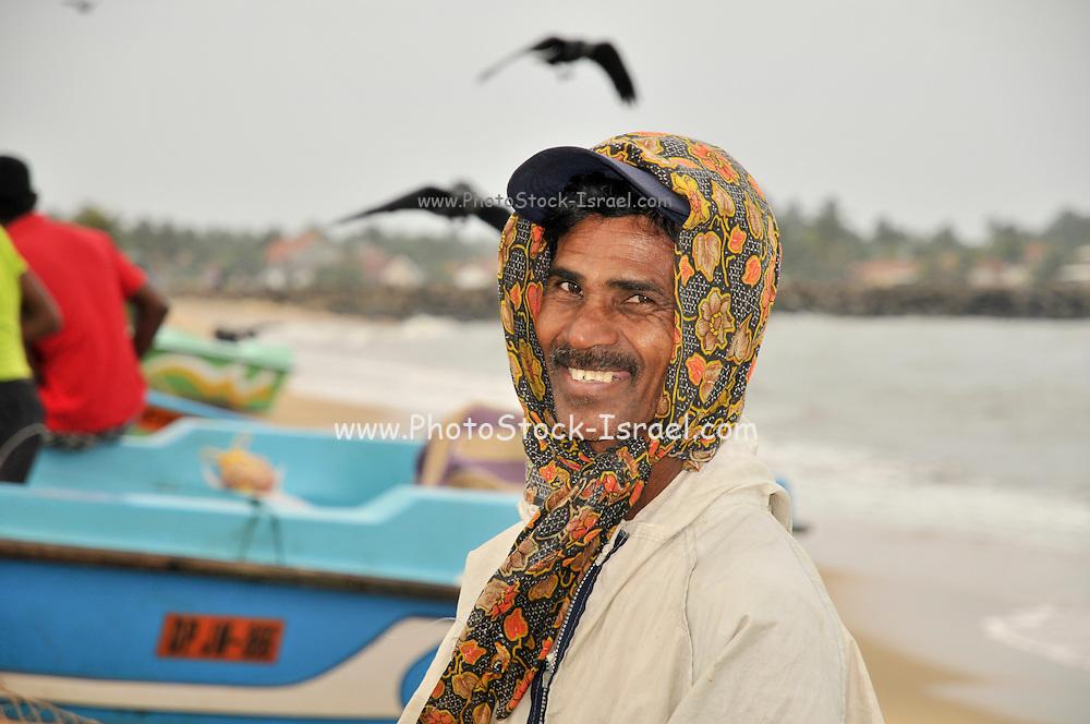 Negombo Fish market, Sri Lanka. Portrait of a local fisherman