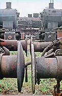 Steam Locomotive Scrapyard, Sibiu, Romania 1982