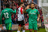 Goal!…Watford forward Troy Deeney (9) celebrates scoring the second goal during the The FA Cup 3rd round match between Woking and Watford at the Kingfield Stadium, Woking, United Kingdom on 6 January 2019.