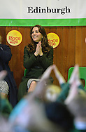 JP License<br /> <br /> THE DUCHESS OF CAMBRIDGE EDINBURGH VISIT.<br /> <br /> The Duchess of Cambridge, also known as The Countess of Strathearn in Scotland, visited three school based charity projects in Edinburgh on Wednesday 24th February. <br /> <br /> The focus of the day is on the valuable partnerships that exist locally between charities, communities and schools to deliver a range of integrated programmes and sporting activities designed to nurture children and young people. <br /> <br /> In the morning, Her Royal Highness  continued her work in support of the mental health of children with visits to two of her patronages who have a presence in Edinburgh -   Place2Be and The Art Room. <br /> <br /> Place2Be has been working in Scotland since 2001. The charity now works in 28 schools in some of the most disadvantaged areas of Edinburgh and Glasgow, reaching a school population of 8,000 children. Place2Be is the UK's leading children's mental health charity providing in-school support and expert training to improve the emotional wellbeing of pupils, families, teachers and school staff.<br /> <br /> Her Royal Highness  joined the school assembly where students  sang a song of welcome and presented a Quaich cup of friendship. The Duchess will then join headteachers from schools in Edinburgh for a discussion about the mental health challenges of their school communities, and the benefits of having a partnership with Place2Be.  <br />  <br /> The Duchess will meet children and parents to hear about Place2Be's work with families, alongside health professionals who have undertaken Place2Be's training to develop much-needed child counselling expertise.  <br /> <br /> <br />  Neil Hanna Photography<br /> www.neilhannaphotography.co.uk<br /> 07702 246823