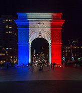 2015 11 15 NYC Tribute to Paris - Washington Square Park - Lighting by Bentley Meeker
