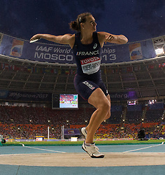 11.08.2013, Luzhniki Stadion, Moskau, RUS, IAAF Leichtathletik Weltmeisterschaft, im Bild MELINA ROBERT MICHON // during the IAAF world athletics championships at Luzhniki stadium in Moscow, Russia on 2013/08/11. EXPA Pictures © 2013, PhotoCredit: EXPA/ Newspix/ Roman Bosiacki<br /> <br /> ***** ATTENTION - for AUT, SLO, CRO, SRB, BIH, TUR, SUI and SWE only *****