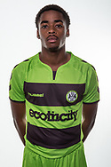 Forest Green Rovers Reece Brown(10) wearing the new kit for the 2018/19 season during the 2018/19 official team photocall for Forest Green Rovers at the New Lawn, Forest Green, United Kingdom on 30 July 2018. Picture by Shane Healey.