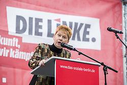 September 9, 2017 - Berlin, Germany - Vice President of Bundestag Petra Pau (Die Linke) speaks at a pre-election party event at Herrmannplatz in Neukoelln in Berlin, Germany on September 9, 2017. (Credit Image: © Emmanuele Contini/NurPhoto via ZUMA Press)
