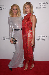 Paris Hilton, Hailey Baldwin attending the premiere of the movie American Meme during the 2018 Tribeca Film Festival at Spring Studios in New York City, NY, USA on April 27, 2018. Photo by Julien Reynaud/APS-Medias/ABACAPRESS.COM