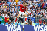 Andreas CORNELIUS of Denmark during the 2018 FIFA World Cup Russia, Group C football match between Denmark and France on June 26, 2018 at Luzhniki Stadium in Moscow, Russia - Photo Thiago Bernardes / FramePhoto / ProSportsImages / DPPI