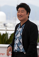 Actor Song Kang-ho at Parasite film photo call at the 72nd Cannes Film Festival, Wednesday 22nd May 2019, Cannes, France. Photo credit: Doreen Kennedy