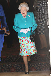 May 31, 2017 - London, London, United Kingdom - Image licensed to i-Images Picture Agency. 31/05/2017. London, United Kingdom. The Queen leaving the Drapers' Hall in London after a lunch to commemorate  the 70th Anniversary of Her Majesty's admission to the Freedom of the Drapers' Company.  Picture by Stephen Lock / i-Images (Credit Image: © Stephen Lock/i-Images via ZUMA Press)
