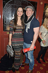 Singer TINA BARRETT and PAUL CASHMORE at the opening night of Cinderella at The New Wimbledon Theatre, 93 The Broadway, London SW19 1QG on 9th December 2014.