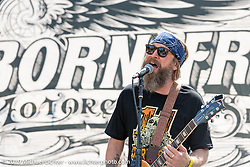 Mojave Lords playing the main stage at the Born-Free Vintage Motorcycle show at Oak Canyon Ranch, Silverado, CA, USA. Sunday, June 23, 2019. Photography ©2019 Michael Lichter.