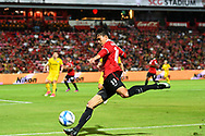 NONTHABURI, THAILAND - JULY 02: Adisak of SCG Muangthong United in action during the first half of the Thai League: SCG Muangthong United vs Pattaya United at SCG Stadium, Nonthaburi, Thailand on July 02, 2017.<br /> .<br /> .<br /> .<br /> (Photo by: Naratip Golf Srisupab/SEALs Sports Images)<br /> .<br /> Any image use must include a mandatory credit line adjacent to the content which should read: Naratip Golf Srisupab/SEALs Sports Images