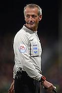 Referee Martin Atkinson looking on. Barclays Premier league match, Crystal Palace v Sunderland at Selhurst Park in London on Monday 23rd November 2015.<br /> pic by John Patrick Fletcher, Andrew Orchard sports photography.