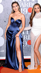 Perrie Edwards and Jade Thirlwall of Little Mix attending the Brit Awards 2019 at the O2 Arena, London. Photo credit should read: Doug Peters/EMPICS Entertainment. EDITORIAL USE ONLY