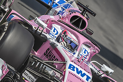 May 11, 2018 - Barcelona, Catalonia, Spain - SERGIO PEREZ (MEX) drives during the first practice session of the Spanish GP at Circuit de Catalunya drives in his Force India VJM11 (Credit Image: © Matthias Oesterle via ZUMA Wire)