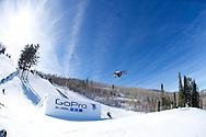 Andreas Hatveit during Ski Slopestyle Practice at 2014 X Games Aspen at Buttermilk Mountain in Aspen, CO. ©Brett Wilhelm/ESPN