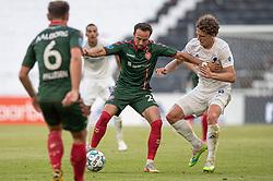 Patrick Olsen (AaB) og Jens Stage (FC København) under kampen i 3F Superligaen mellem FC København og AaB den 17. juni 2020 i Telia Parken, København (Foto: Claus Birch).