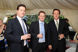 Left to right, GEORGE OSBORNE MP, MATTHEW d'ANCONA editor of The Spectator and DAVID CAMERON MP  at the Spectator Summer Party held at 22 Old Queen Street, London SW1 on 3rd July 2008.<br /><br />NON EXCLUSIVE - WORLD RIGHTS