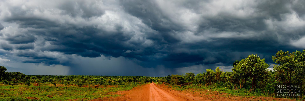 An afternoon thunderstorm passes across semi-rural country in northern Uganda.<br /> <br /> Limited Edition of 25 only