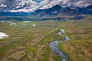 Aerial of Kisaralik River, Alaska