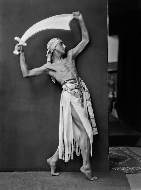 Hubert Stowitts in 'Scimitar' Ballet, London, England, 1920