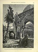 PUBLIC FOUNTAIN AT JAFFA Near to the gate of the town, shaded by an Octagonal domed structure, formed out of eight pointed arches supported by columns. Wood engraving of from 'Picturesque Palestine, Sinai and Egypt' by Wilson, Charles William, Sir, 1836-1905; Lane-Poole, Stanley, 1854-1931 Volume 3. Published in by J. S. Virtue and Co 1883