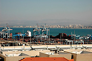 Bay of Haifa, and Israels biggest port as seen from mount Carmel