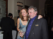 Lucy Yeomans and David Bailey. David Bailey dinner hosted by Lucy Yeomans at Gordon Ramsay at Claridge's. 12 November 2001. © Copyright Photograph by Dafydd Jones 66 Stockwell Park Rd. London SW9 0DA Tel 020 7733 0108 www.dafjones.com