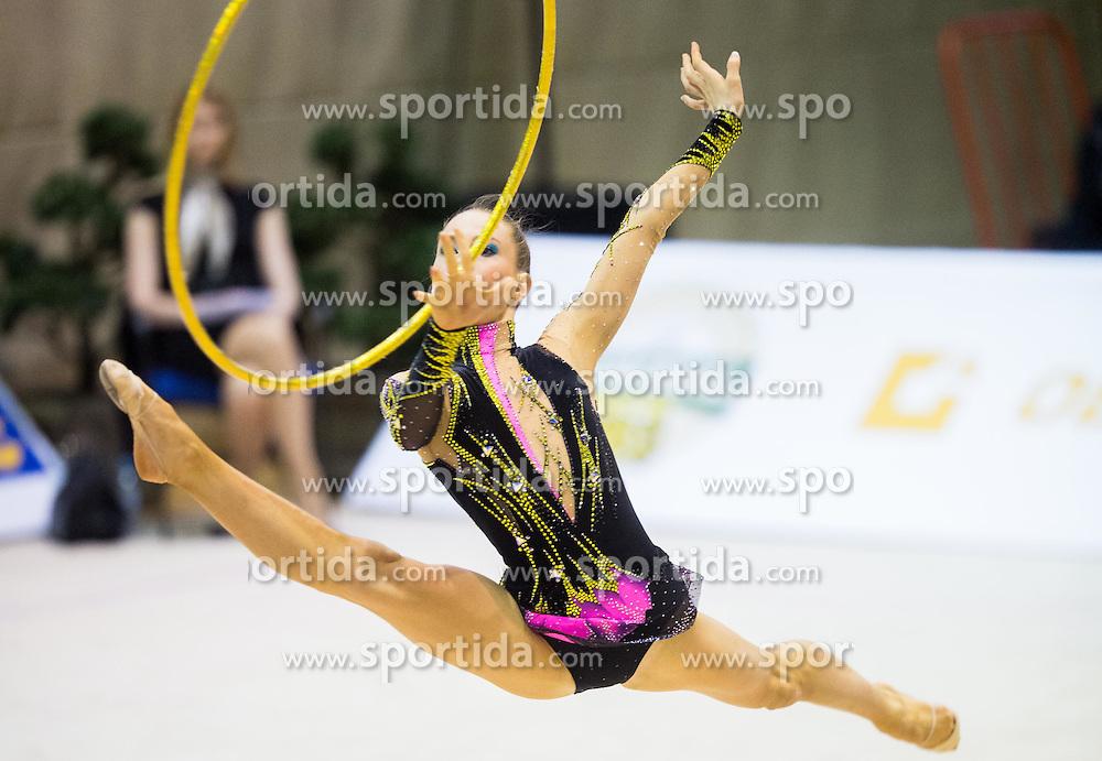 Spela Kratochwill of Slovenia competes during 27th MTM - International tournament in rhythmic gymnastics Ljubljana, on April 19, 2014 in Arena Krim, Ljubljana, Slovenia. Photo by Vid Ponikvar / Sportida