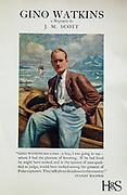 Gino Watkins, biography of British polar explorer in Greenland, by James Scott, original publicity brochure by Hodder & Stoughton, London, 1935.