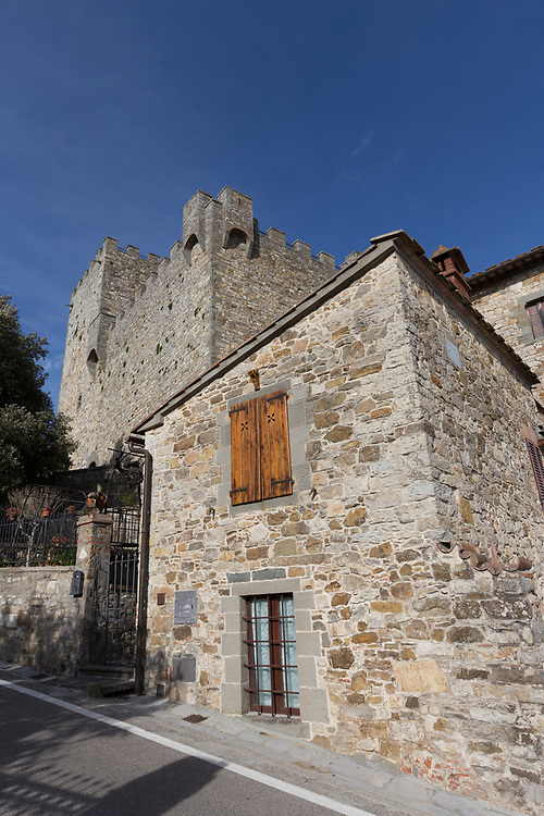The ancient fifteenth-century fortress dominates the center in Castellina di Chianti in Italy. Impressive Rocca is today the home to the Museo Archeologico del Chianti Senese, which showcases the Chianti's Etruscan roots.