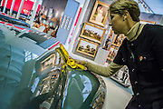 A 949 Bristol 402 Roadster owned by Hollywood actress Jean Simmons has a price tag of £325,000. She bought from a car dealer named Tony Crook - Winter Olympia Art & Antiques Fair- in its 25th year the fair plays host to 22,000 visitors who come to see over 30,000 pieces for sale from the 120 hand-picked dealers valued frpom £100-£1m.  The fair runs from 2-8 November 2015, opening with the Collector's Preview Reception on 2 November at 5pm..