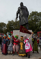 panto parade outside of Downing Street, Whitehall, London, England,Wednesday 30 September, 2020 to highlight the plight facing the theatre industry and the damage that has been done to the industry as many are freelancers/self employed who have been excluded from government support