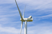 wind turbine against wispy cloud at MacArthur Wind Farm, Menhamite, Victoria, Australia <br />