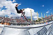 Drew Bezanson during BMX Park Finals at the 2013 X Games Barcelona in Barcelona, Spain. ©Brett Wilhelm/ESPN