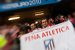 12.05.2010, Hamburg Arena, Hamburg, GER, UEFA Europa League Finale, Atletico Madrid vs Fulham FC im Bild Fans von Atheltico Madrid, EXPA Pictures © 2010, PhotoCredit: EXPA/ J. Feichter / SPORTIDA PHOTO AGENCY