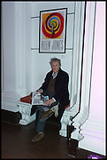 TOM STOPPARD, Private view for A Strong Sweet Smell of Incense<br /> A Portrait of Robert Fraser, Curated by Brian Clarke. Pace Gallery. 6 Burlington Gardens. London. 5 February 2015.