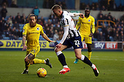 Millwall striker Aiden O'Brien (22) shaping to shoot during the EFL Sky Bet League 1 match between Millwall and Bristol Rovers at The Den, London, England on 12 November 2016. Photo by Matthew Redman.