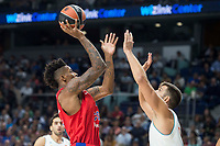 Real Madrid Felipe Reyes and CSKA Moscu Will Clyburn during Turkish Airlines Euroleague match between Real Madrid and CSKA Moscu at Wizink Center in Madrid, Spain. October 19, 2017. (ALTERPHOTOS/Borja B.Hojas)