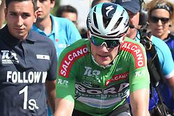 October 10, 2018 - Antalya, Turkey - Sam Bennett from Bora - Hansgrohe Team wins the second stage - the Sportoto 154.1km Alanya - Antalya, of the 54th Presidential Cycling Tour of Turkey 2018. .On Wednesday, October 10, 2018, in Antalya, Turkey. (Credit Image: © Artur Widak/NurPhoto via ZUMA Press)