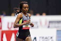 New Balance Indoor Grand Prix track meet: Women's 2 Mile, Tirunesh Dibaba, ETH