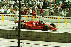 Indianapolis Time Trials, May 1987<br /> #76 Rocky Moran - Failed to Qualify or withdrew.<br /> <br /> A scan from an old photo or slide from the collection of Alan and Becky Look dated 1987 and 1988.