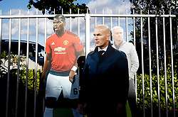The life size cutouts of Manchester United manager Jose Mourinho, Paul Pogba and Zinedine Zidane outside the ground before the Premier League match at Old Trafford, Manchester.