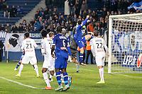 Goal CSC Romain DANZE - 13.01.2015 - Bastia / Rennes - 1/4Finale Coupe de la Ligue -<br />Photo : Michel Maestracci / Icon Sport