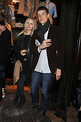 JULIA GODZINSKAYA and EDZARD VAN DER WYCK at a reception hosted by Ralph Lauren Double RL and Dexter Fletcher before a private screening of Wild Bill benefitting FilmAid held at RRL 16 Mount Street, London on 26th March 2012.