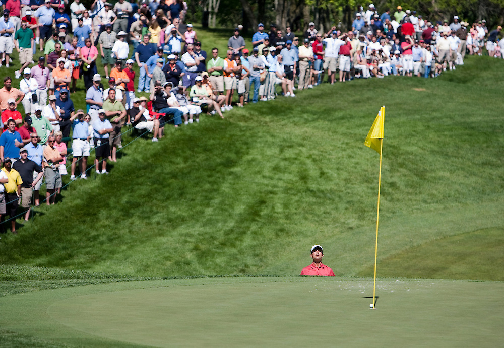 Mike Weir on the 18th at the PGA Memorial Golf Tournament in Dublin, Ohio.