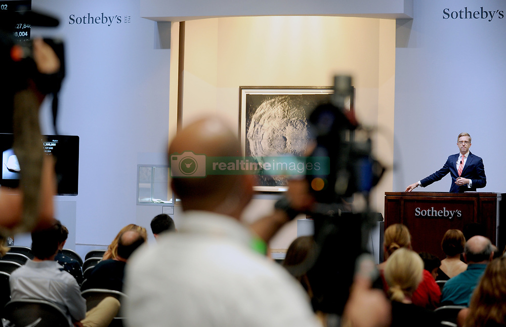 Neil Armstrong's moon bag fetches USD 1.8 million at auction in New York City, NY, USA, July 21, 2017. The long-lost bag used by NASA astronaut Neil Armstrong to collect the first-ever moon samples has been sold for a whopping USD 1,812,500 at an auction in the US. The bag, auctioned on the occasion of the 48th anniversary of mankind's first moon landing, was expected to fetch USD 2 million-4 million. It still contains traces of the moon dust, Sotheby's said. Photo by Dennis Van Tine/ABACAPRESS.COM
