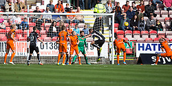 On eight minutes referee John Beaton pointed to the penalty spot as Gavin Reilly was adjudged to have been impeded trying to get on the end of a corner. Dunfermline 1 v 3 Dundee United, Scottish Championship game played 10/9/2016 at East End Park.