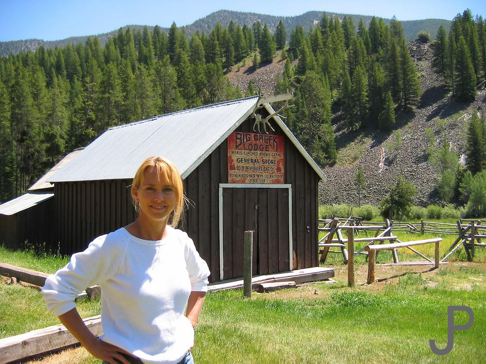 Kay Pratt at Big Creek airport in Idaho