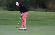 Hugues Joannes (BEL) on the 8th green during Round 1 of the Volopa Irish Challenge in Tullow, Co. Carlow on Thursday 8th October 2015.<br /> Picture:  Thos Caffrey / www.golffile.ie